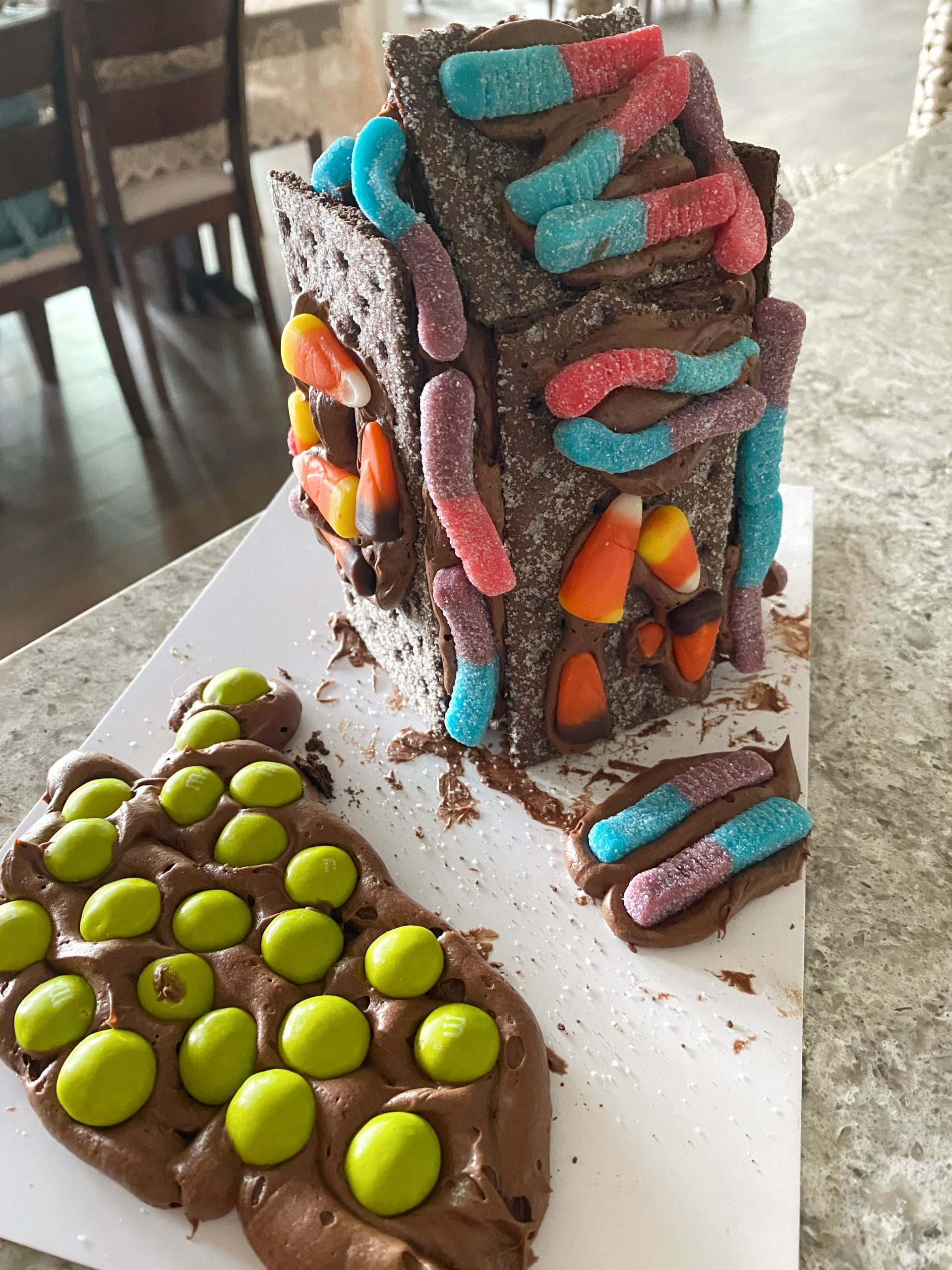 DIY Halloween Gingerbread House