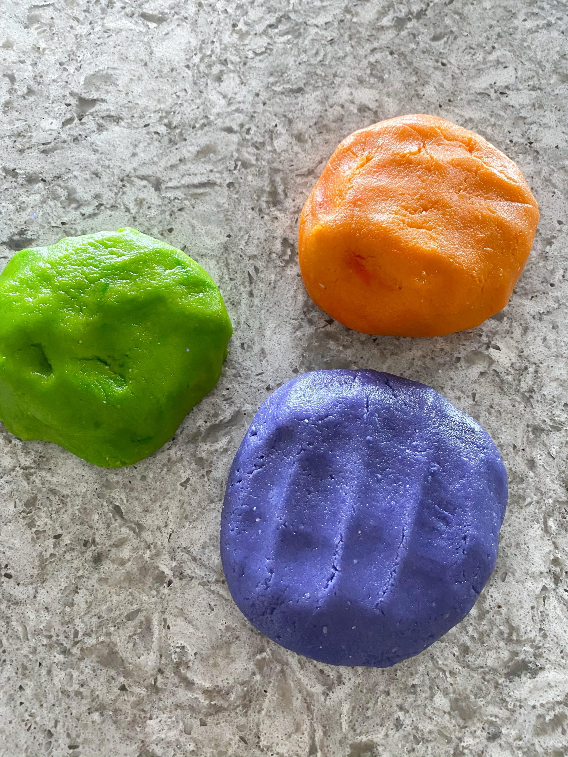 Halloween colored cookie dough