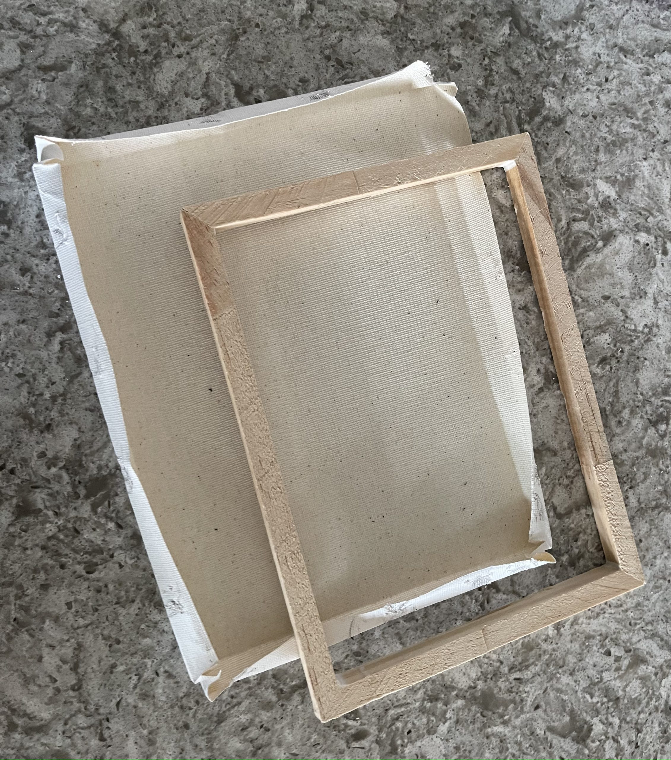 removing canvas from wooden frame