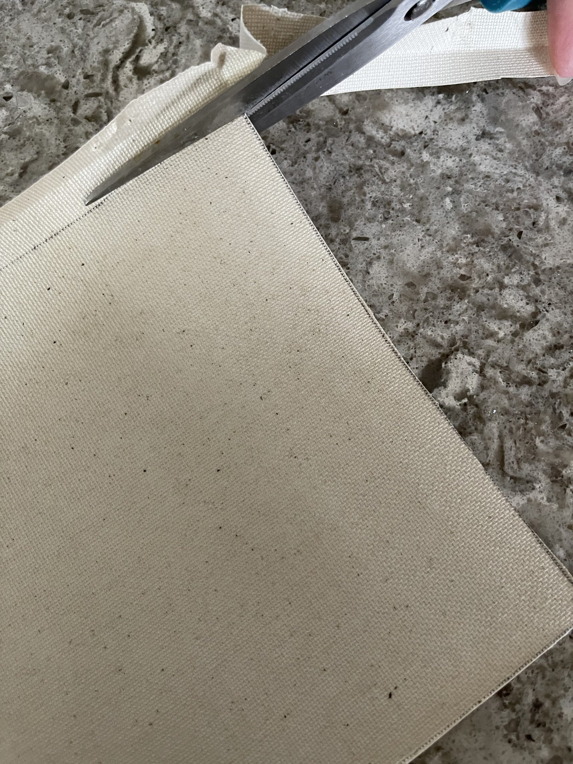 cutting canvas