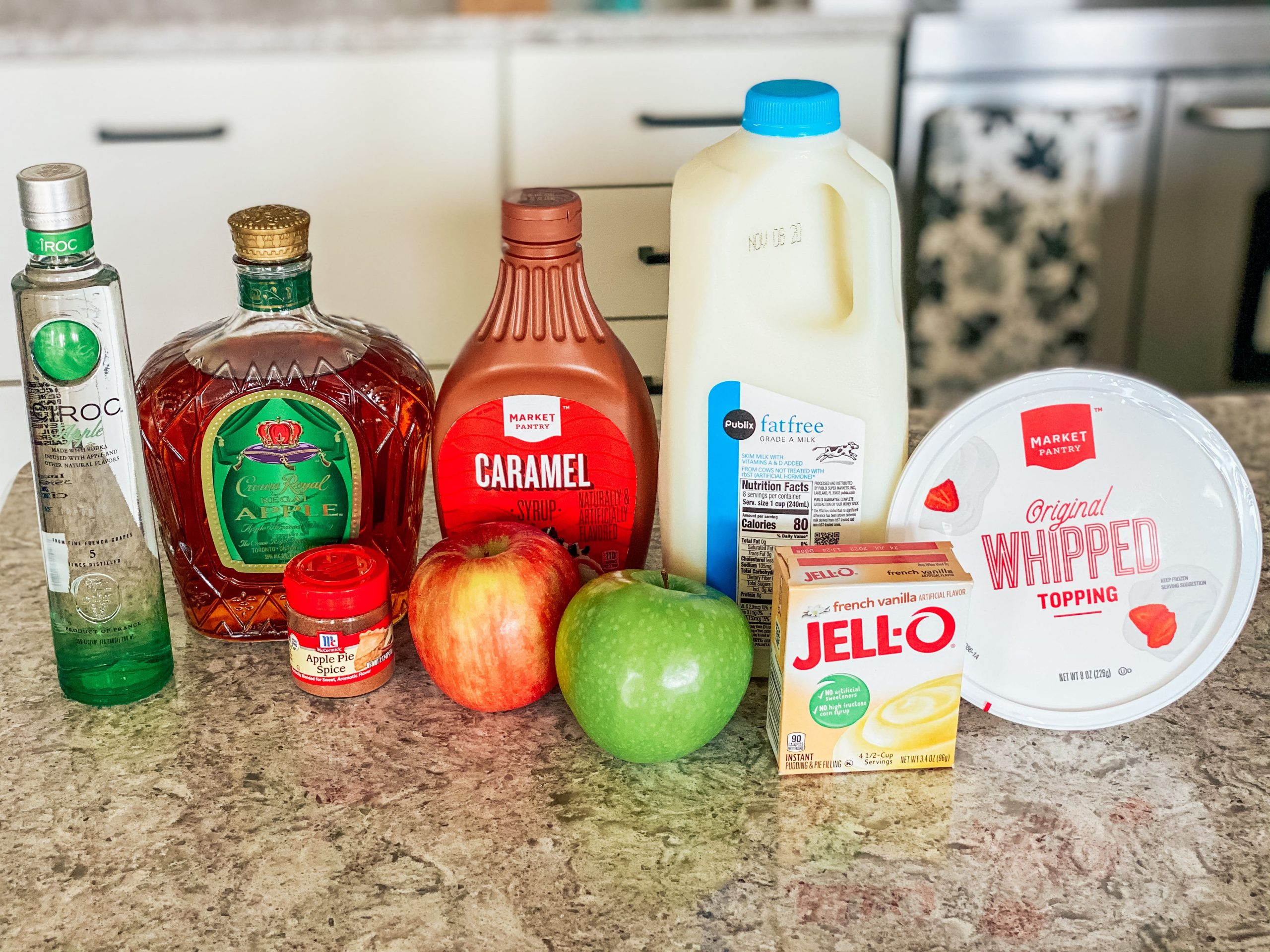 Ingredients for Apple Pie Pudding Shots