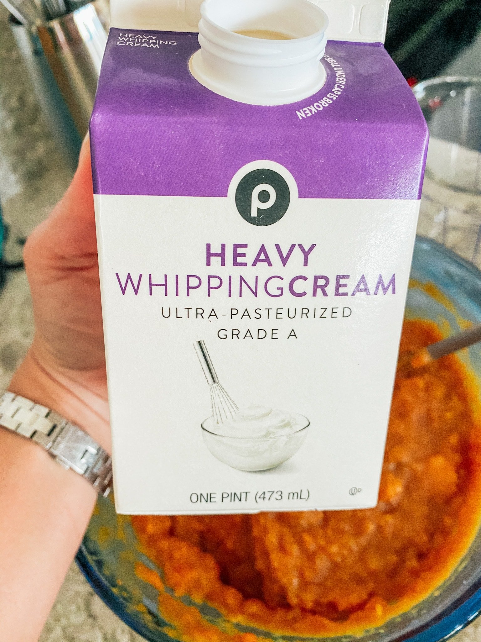 heavy whipping cream