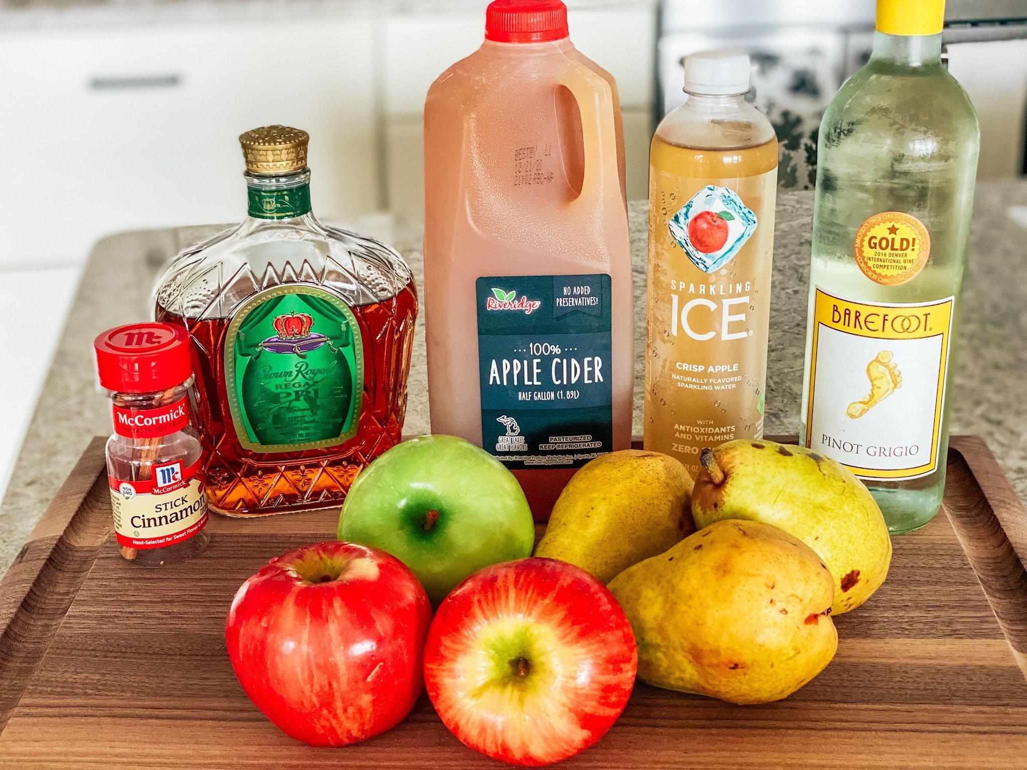 ingredients for Thanksgiving sangria