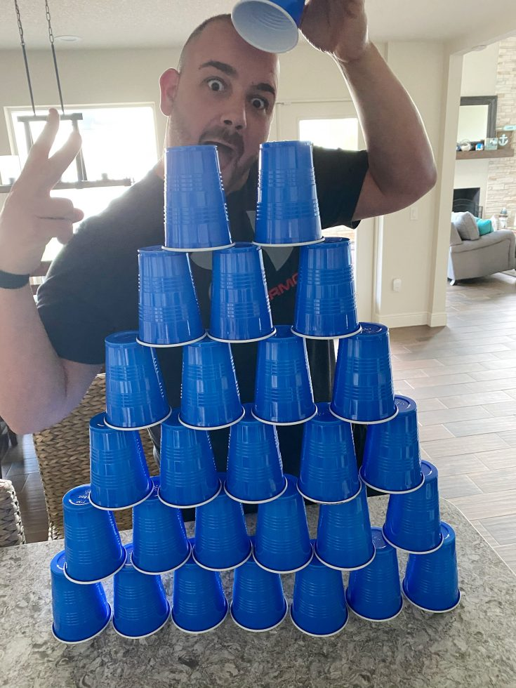 Cup Pyramid Game
