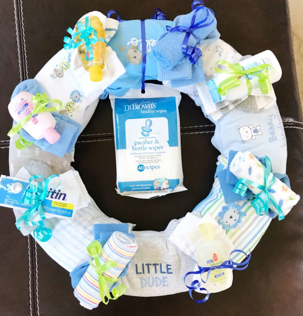 Onesies Wreath A Unique Baby Shower Gift