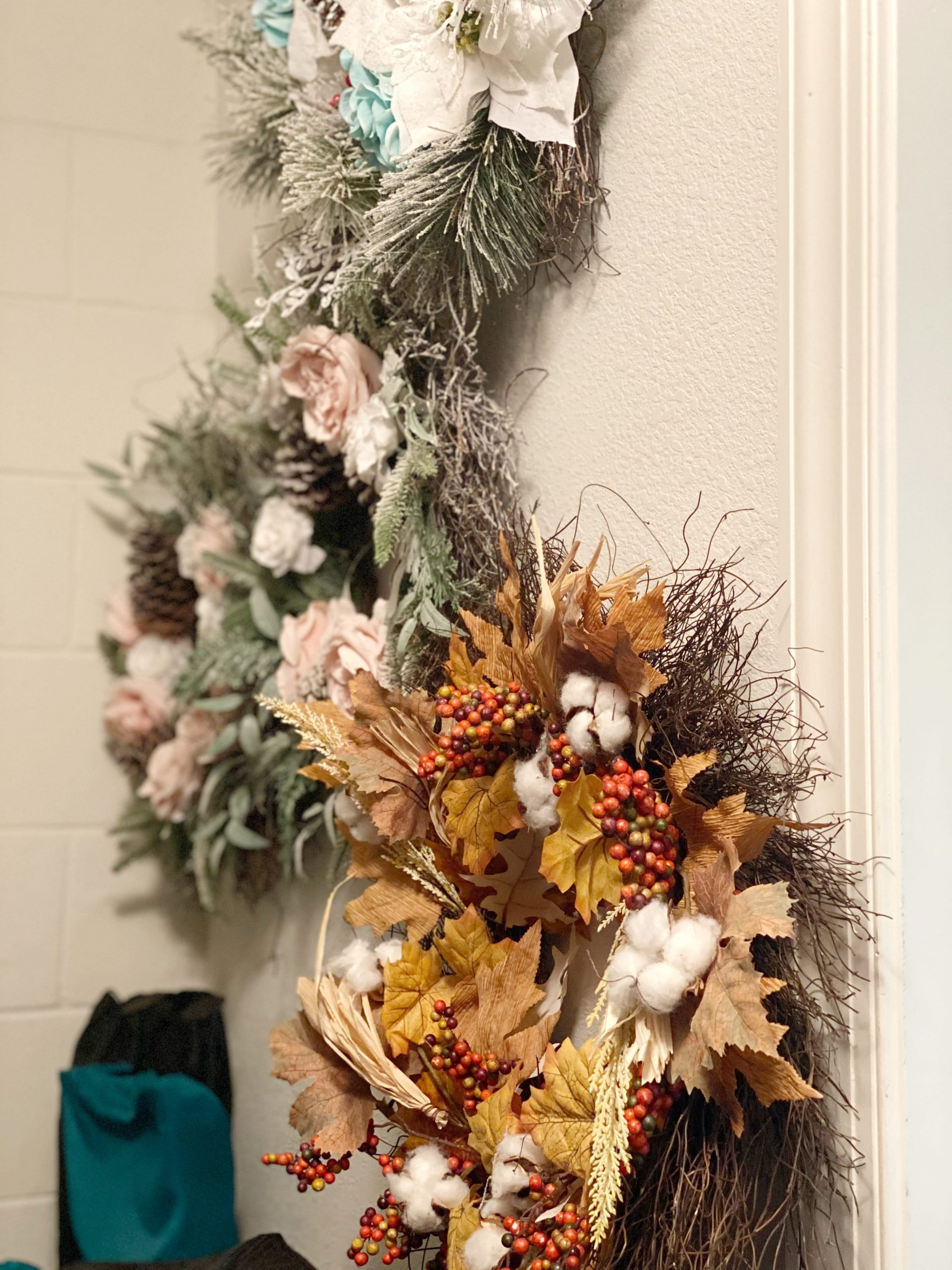 How to store seasonal wreaths