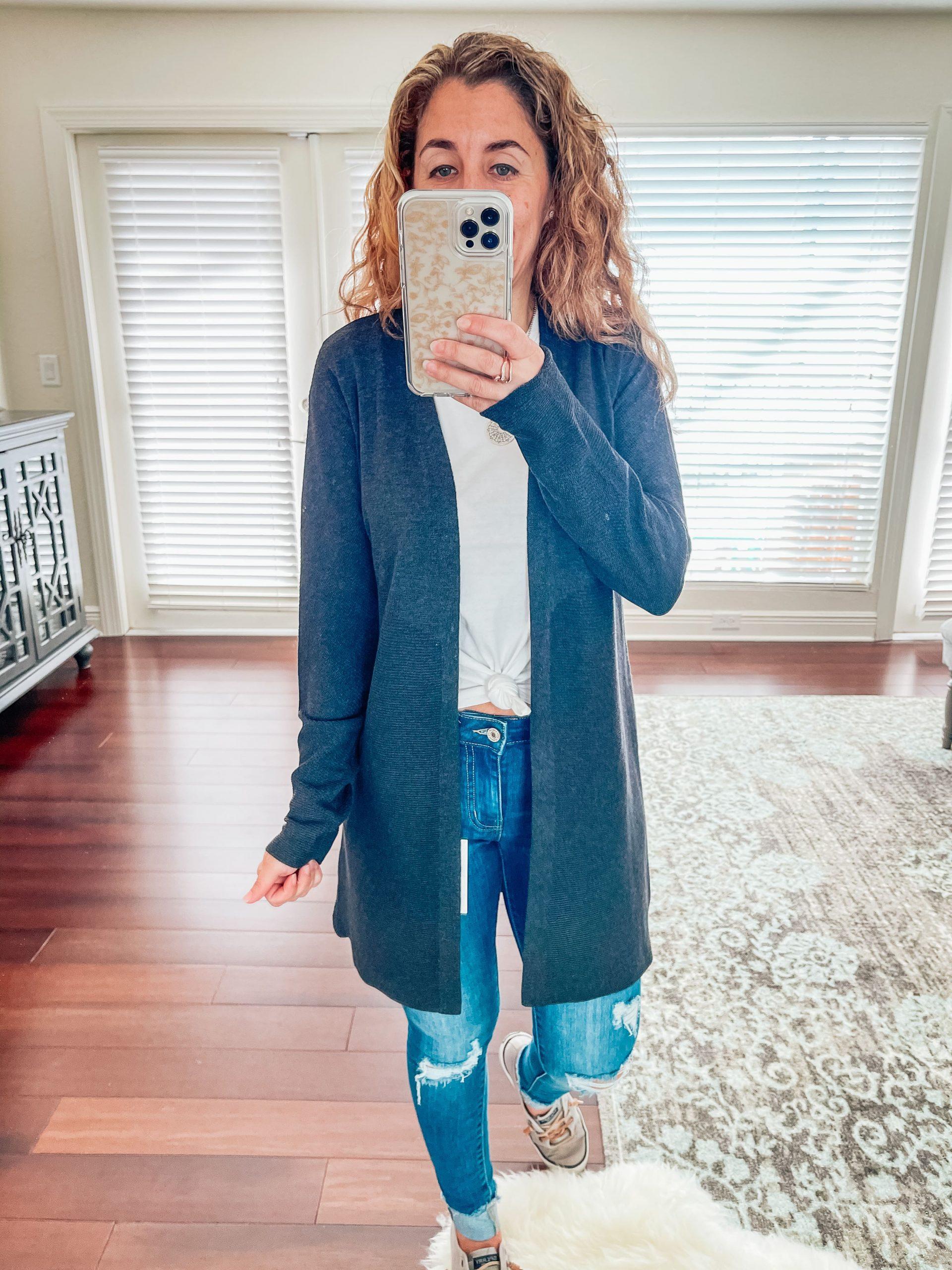 LOVE ELLIE Nalani Ribbed Cardigan Size- XS $46.00