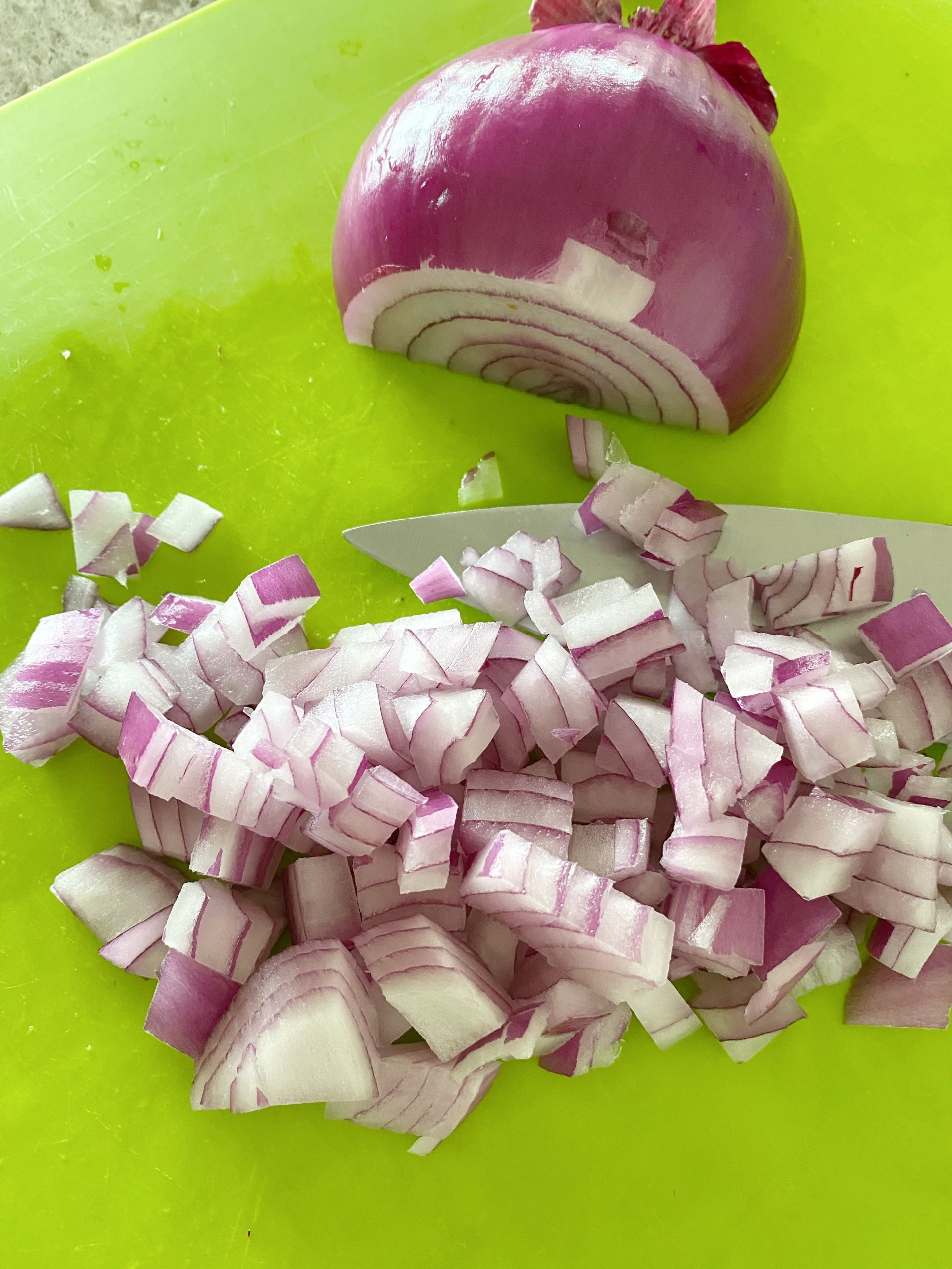 chop up your red onion