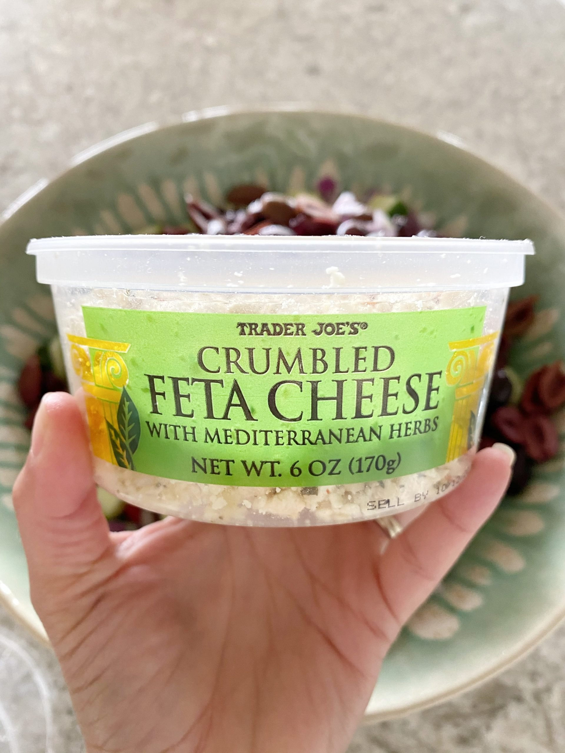 feta cheese with Mediterranean herbs