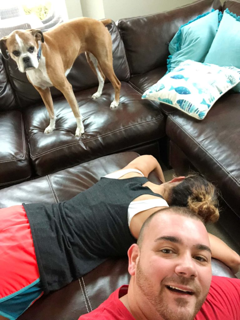 """Embarking on a fitness quest with your spouse is rewarding and insane all at once! Read, """"The Good, The Bad and The Ugly of Working Out With Your Spouse"""". #workingout #workinghard #couplegoals #21DayFix"""