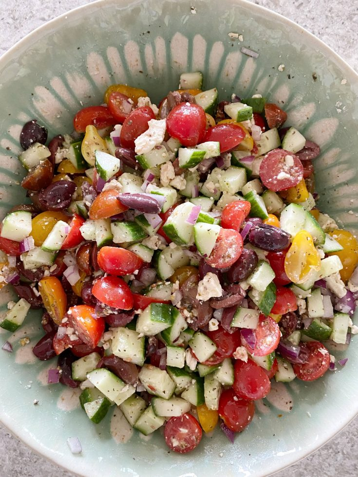 Easy Greek Cucumber Salad Recipe