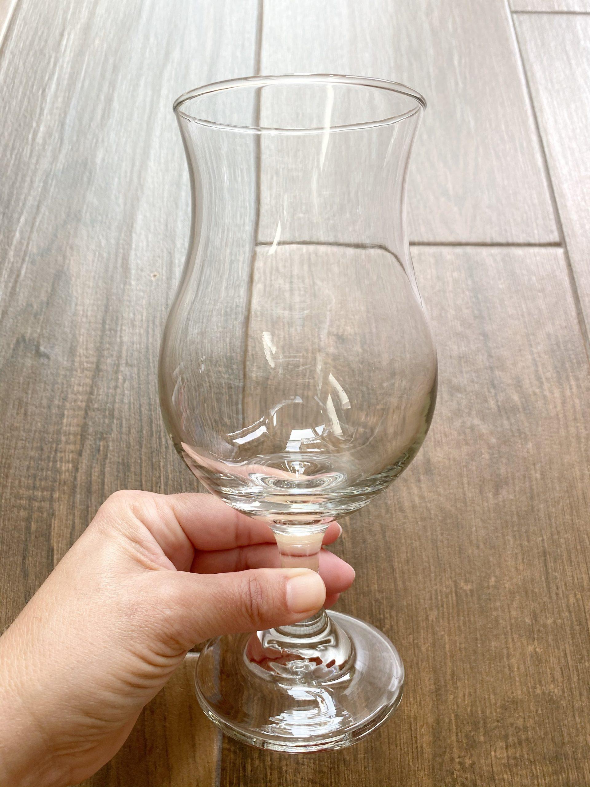 daiquiri glasses from Dollar Tree