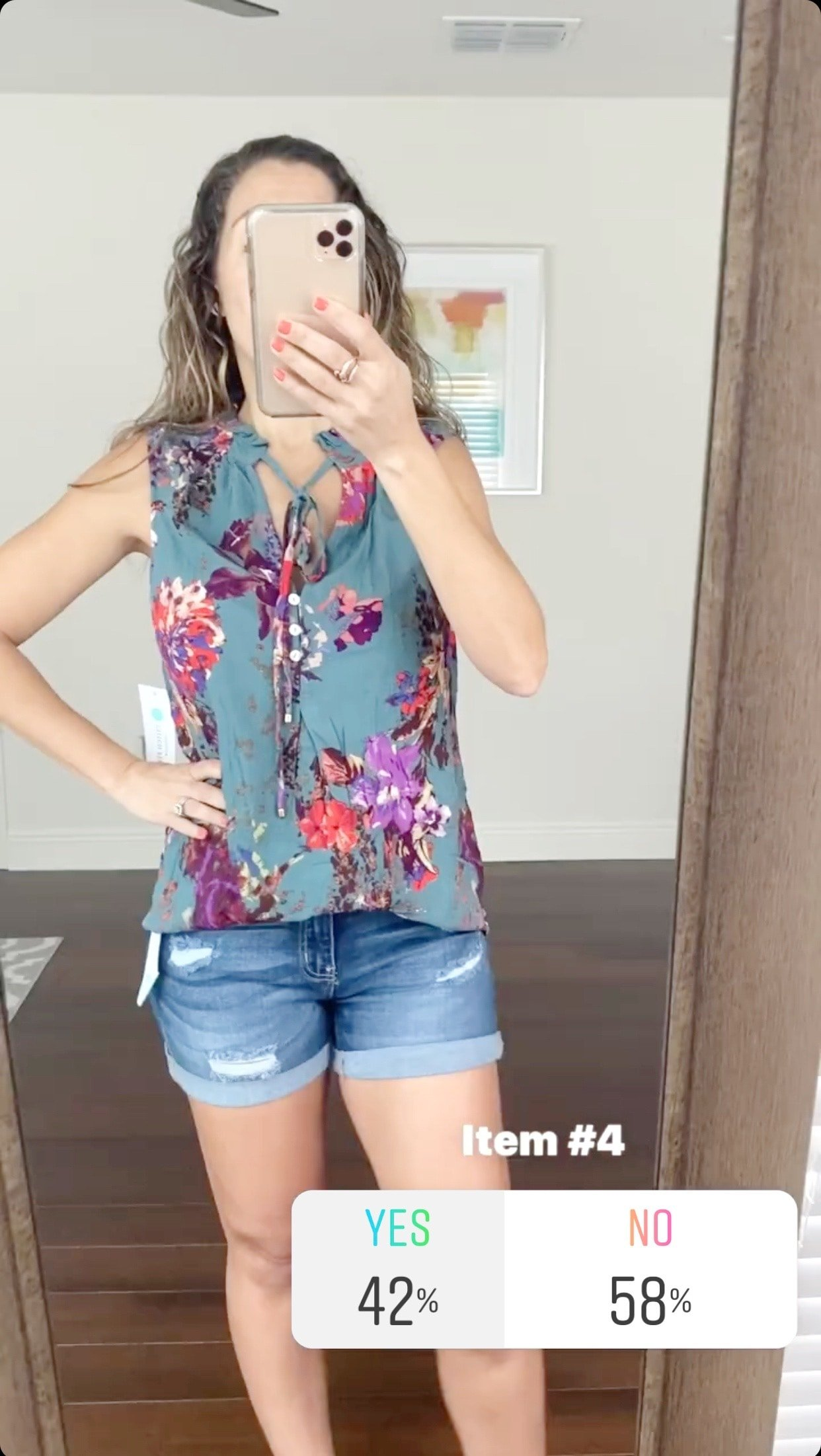 PINK CLOVER Mahalo Tie Neck Top Size- XS $40.00