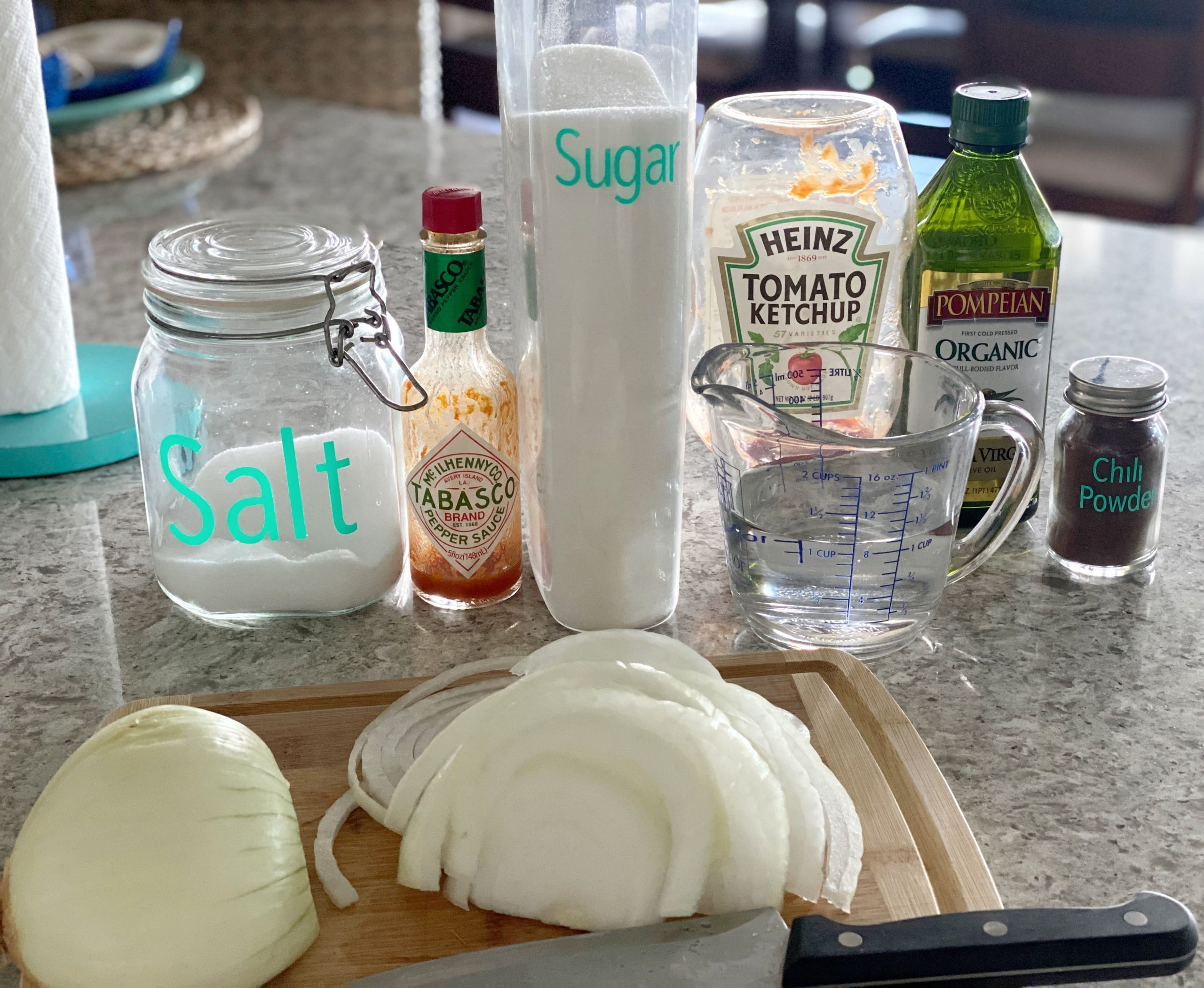 Ingredients for Hot Dog Onion Sauce Recipe