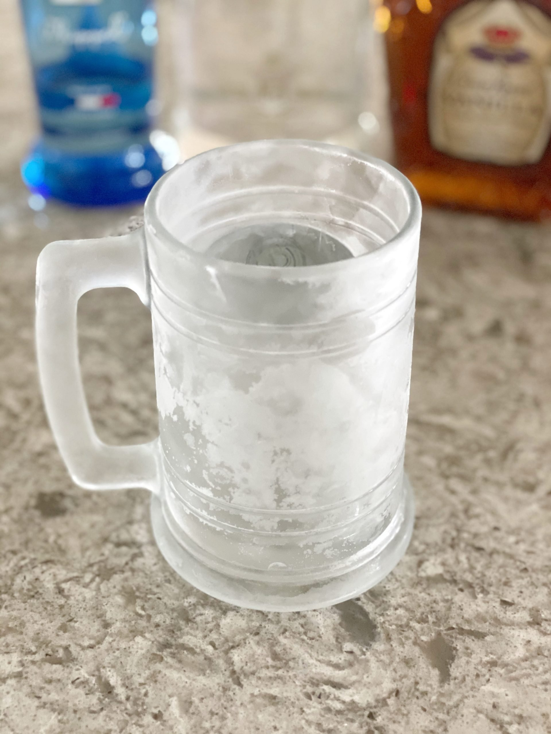 frosty mug for boozy root beer float