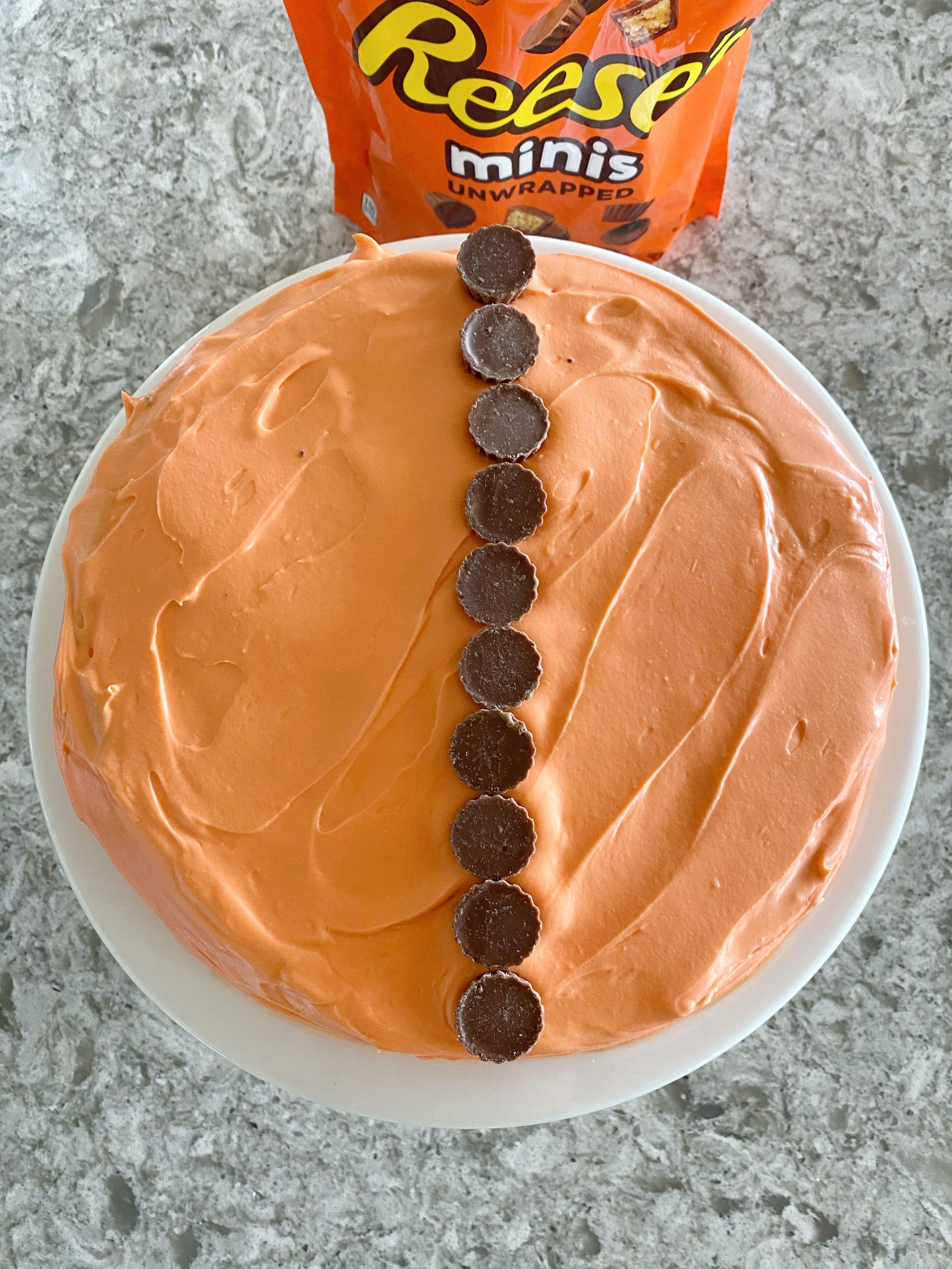 Easy Brownie Basketball Cake