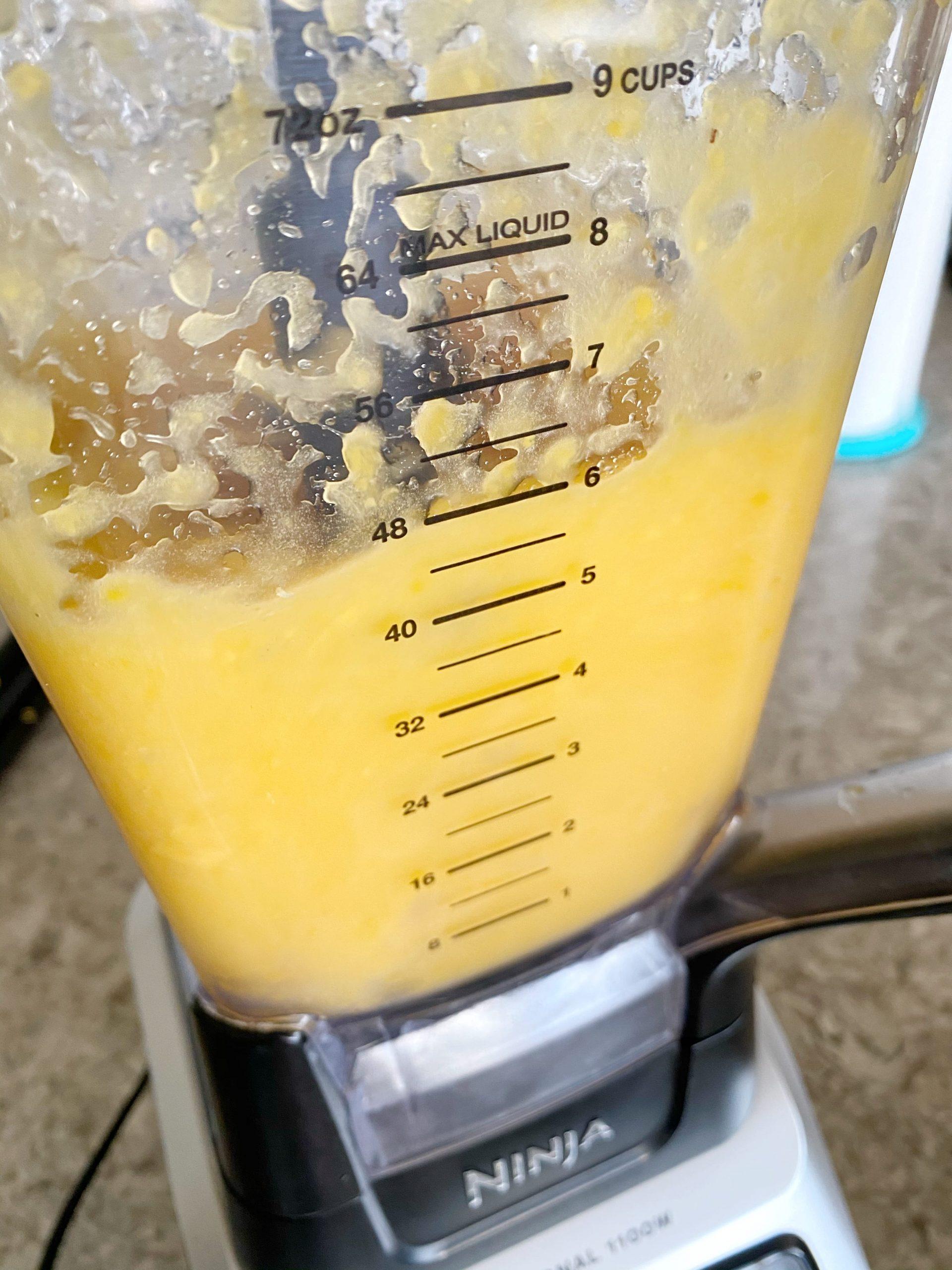 frozen cocktail in blender