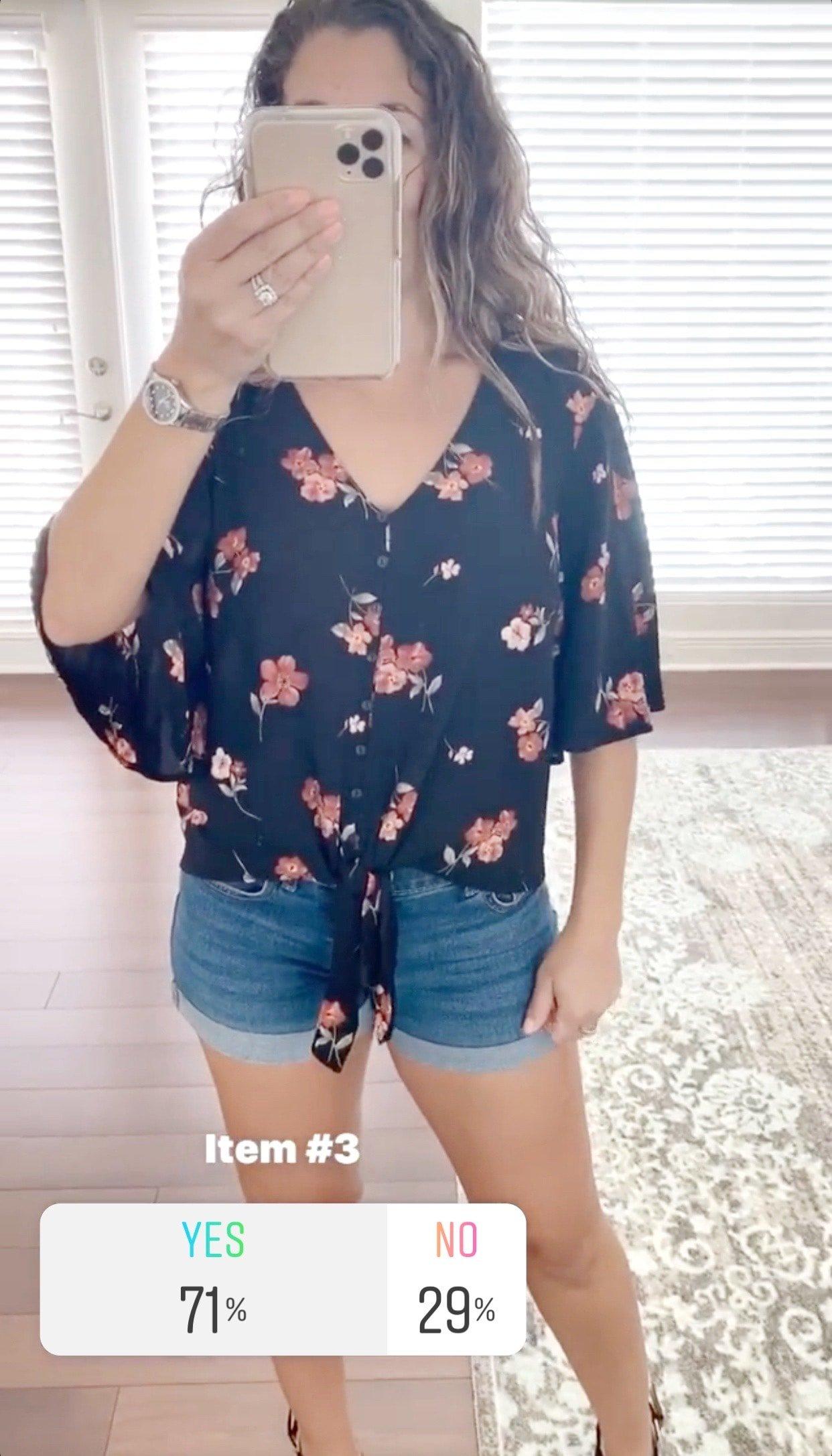 LUSH Krisantha Tie Front Blouse Size- XS $42.00