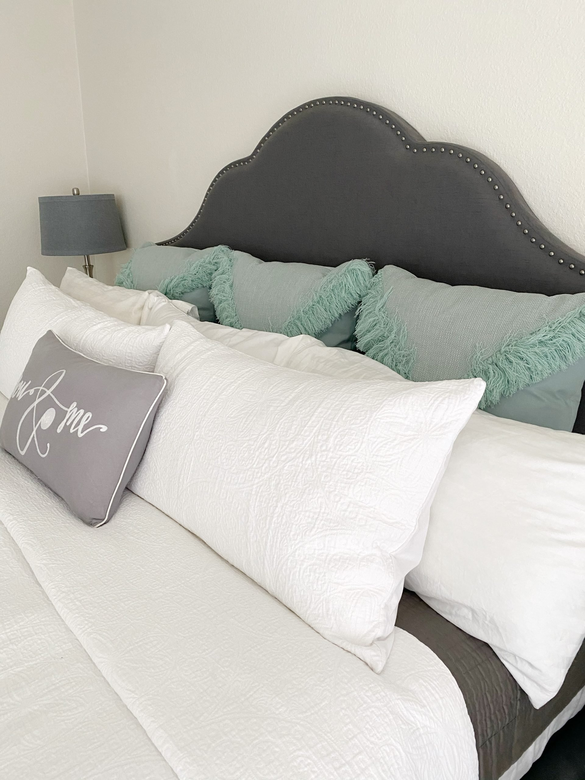 teal and gray master bedroom bedding