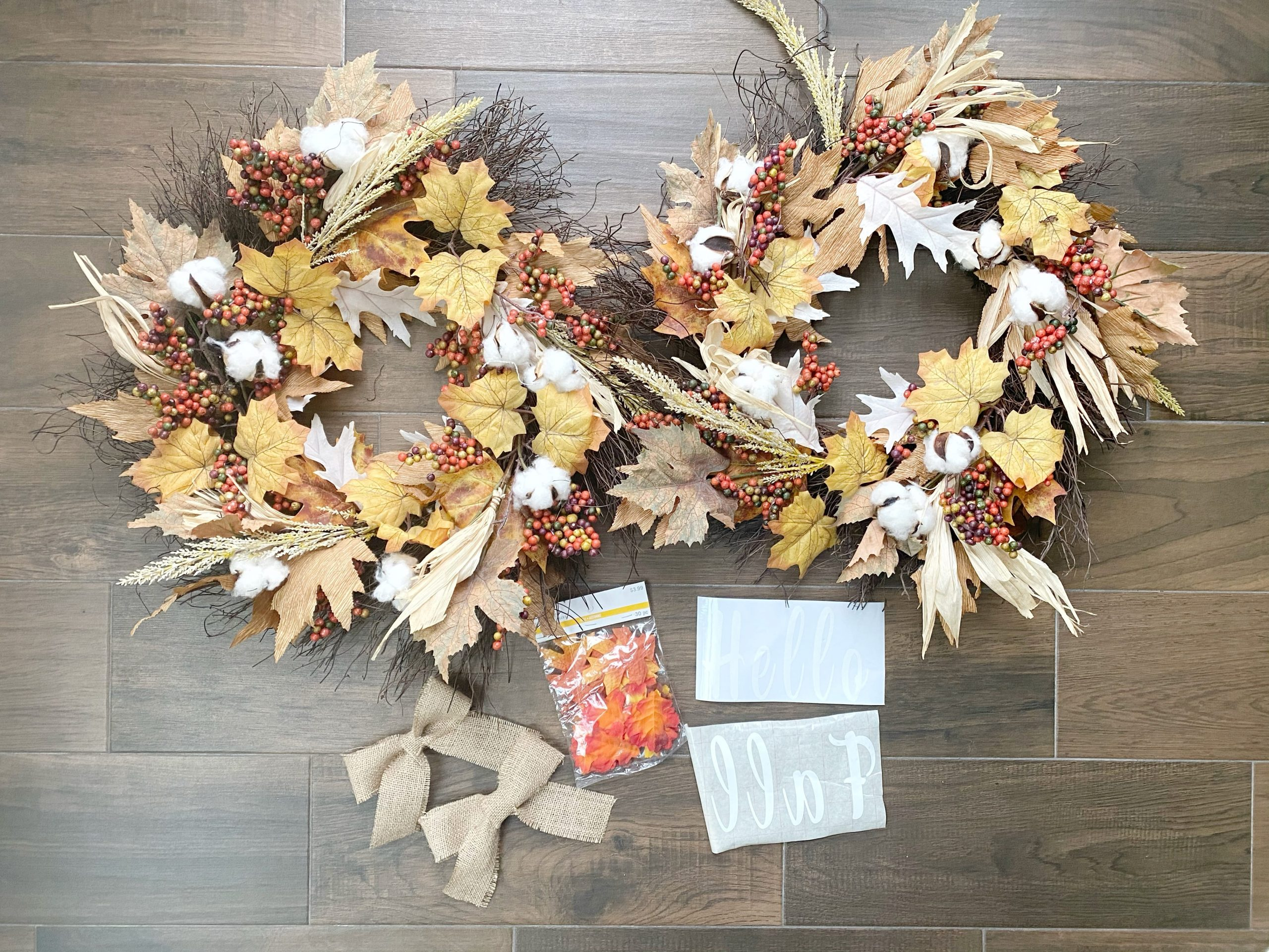 supplies to make a fall wreath