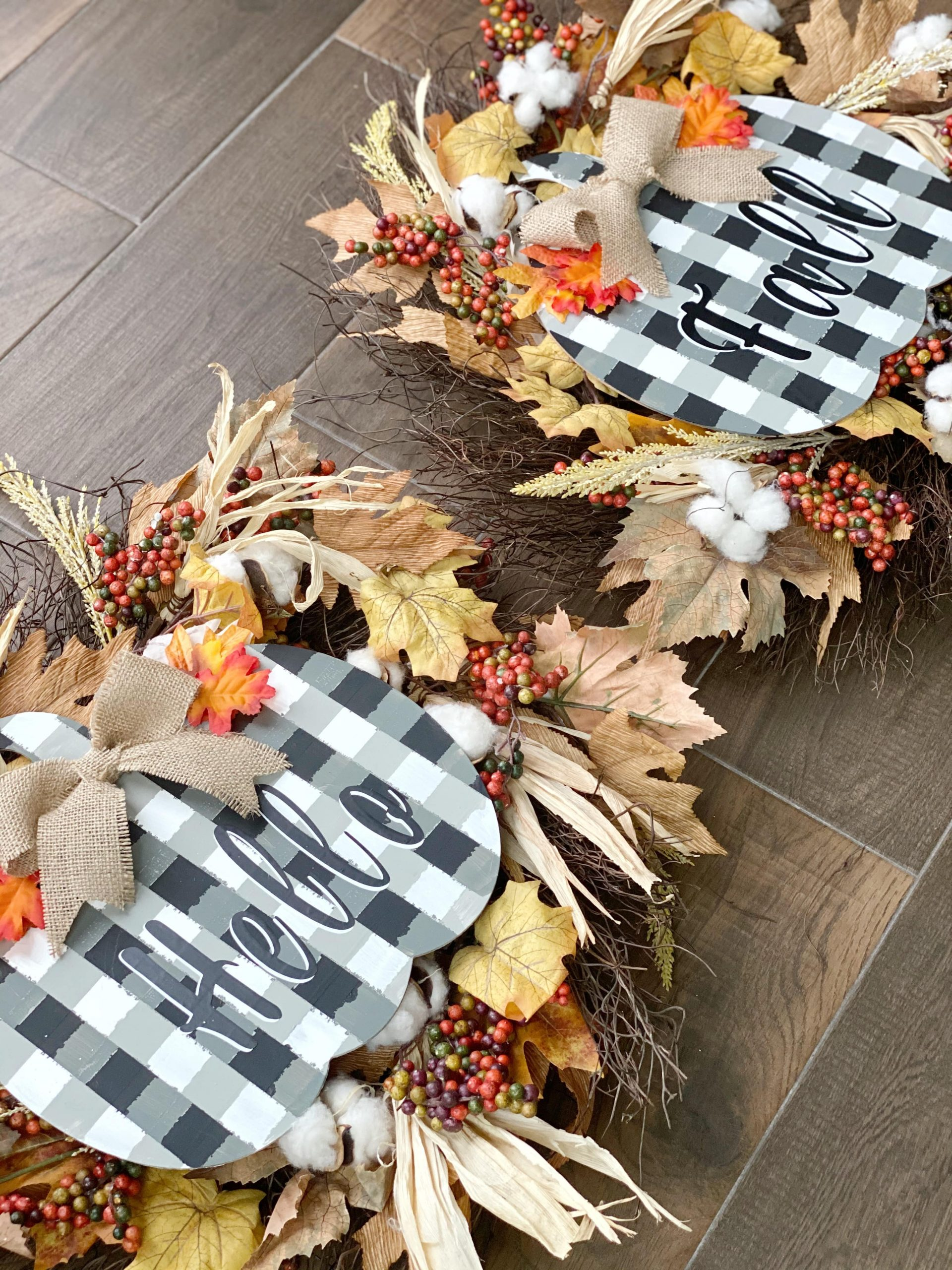 Buffalo Check Pumpkin Wreaths