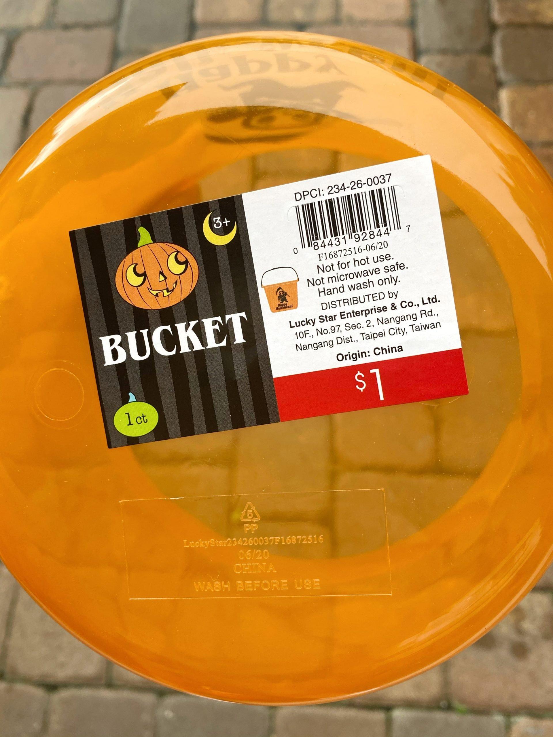 $1 Halloween Bucket from Target