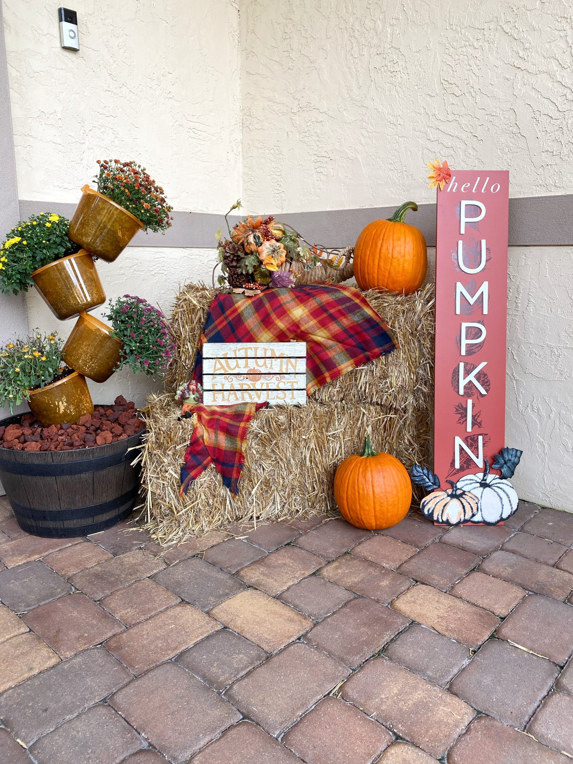 fall front decor haystack inspiration