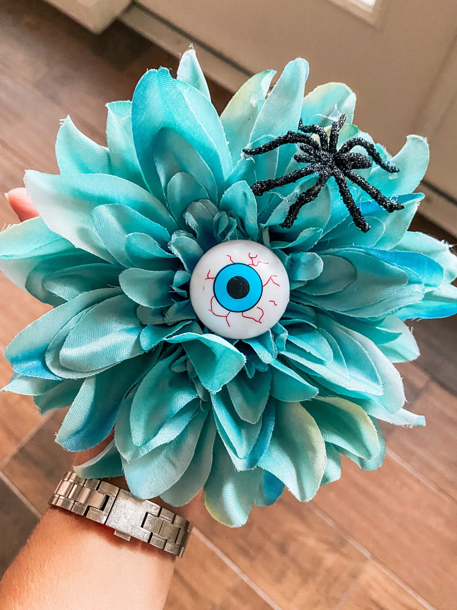 creepy Halloween flower with eyeball