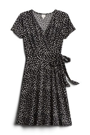 KAILEIGH Arnett Faux Wrap Knit Dress Size- XS $54.00