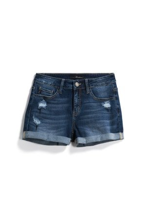 KAN CAN Ila Distressed Tacked Cuffed Short Size- 0 $44.00