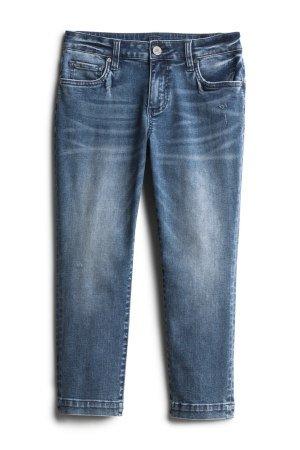 KUT FROM THE KLOTH Darryl Distressed Straight Leg Capri Jean Size- 0P $88.00