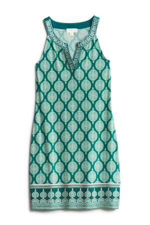 MAGNOLIA GRACE Alhambra Embroidered Trim Knit Dress Size- XSP $74.00