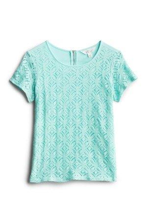 MARKET & SPRUCE Hans Crochet Front Top Size- XSP $58.00