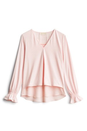 MICHAEL MICHAEL KORS Ines Pleated Sleeve Knit Top SIZE- XSP $68.00