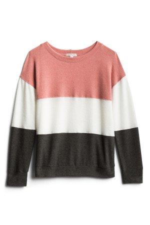 NINE BRITTON Dalia Brushed Knit Top Size- XS