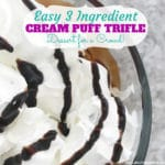 Easy 3 Ingredient Cream Puff Trifle
