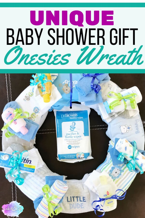 Onesies Wreath A Unique Baby Shower Gift Idea