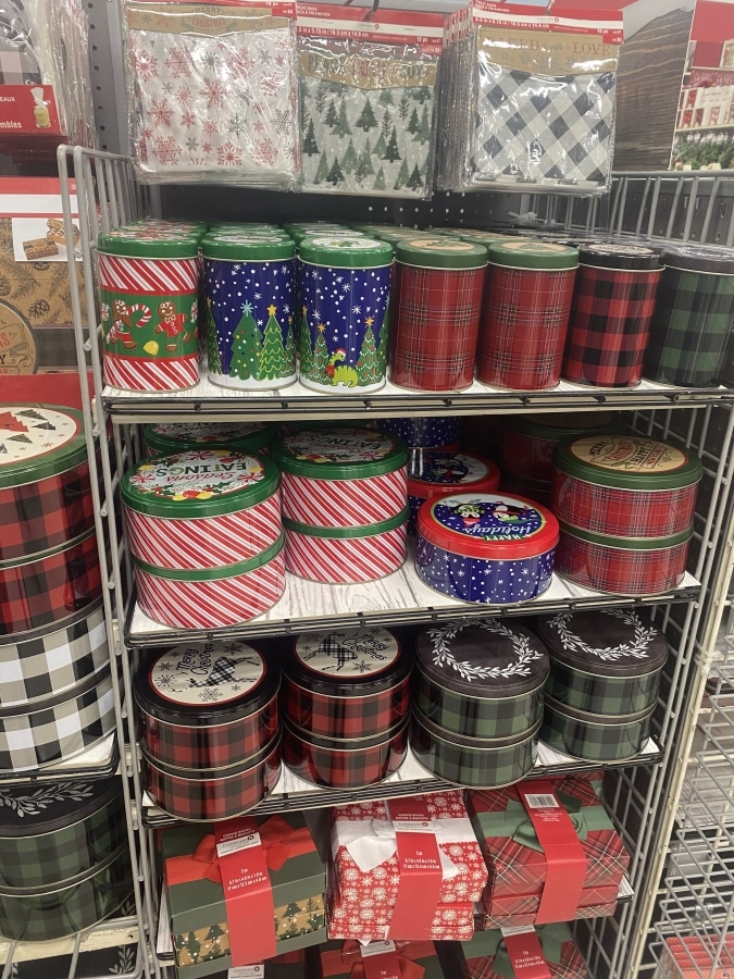 Holiday Cookie Tins and Treat Bags