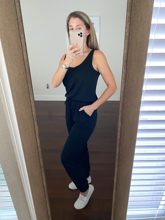 Black jumpsuit/romper from Amazon