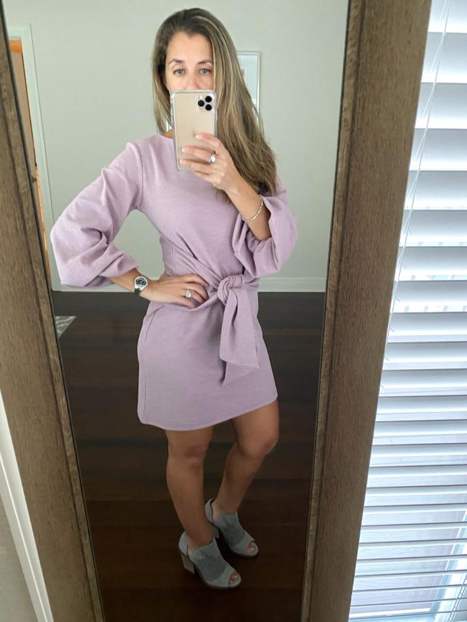 Amazon Tie front dress