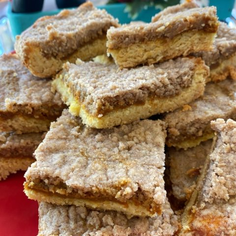 Pumpkin Butter Squares on platter