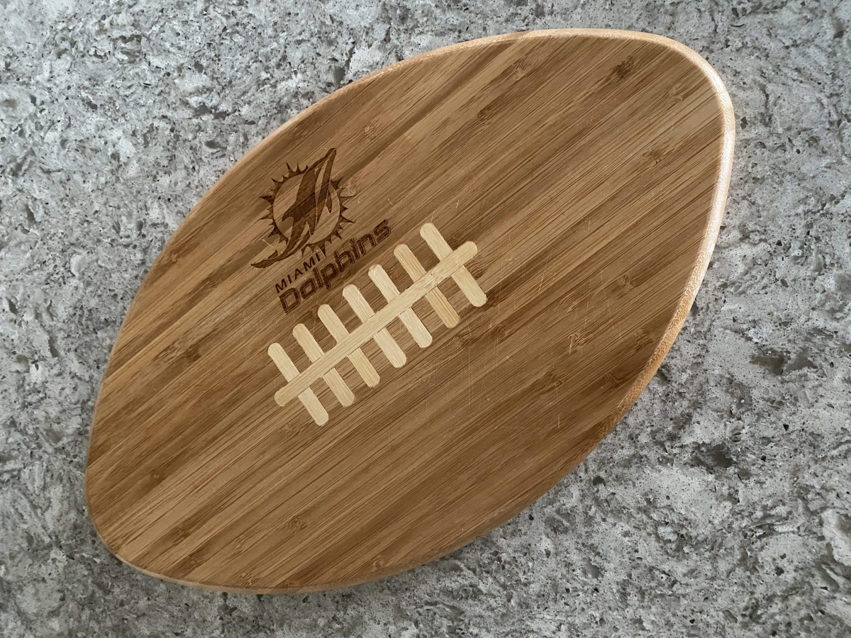Miami Dolphins cutting board