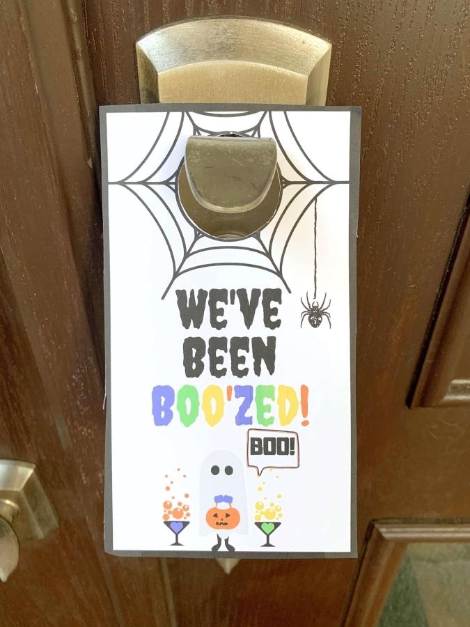 We've Been Boo'zed Sign on front door