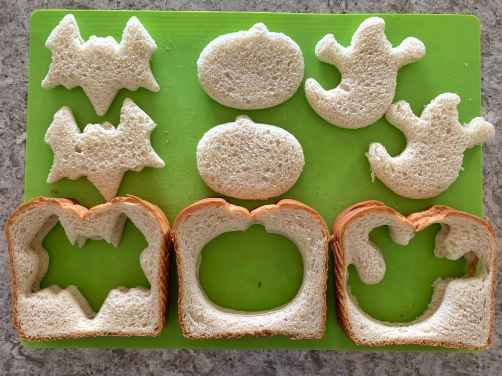 Bread and Halloween cookie cutters