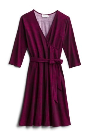 LEOTA Reye Jersey Faux Wrap Dress