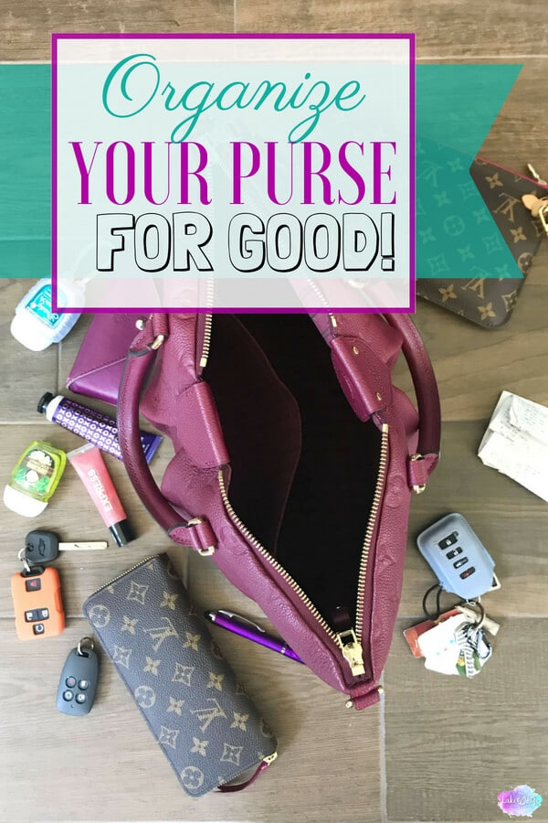 Learn how to organize your purse for good! As women, we use our purse every day. If that's the case, why do we not organize our purse in a way to meet our needs? Stop by the lake and learn how I organize my purse using pouches to not only give all the items in my purse a home but to also make switching purses easier. Make an emergency kit with free printables!