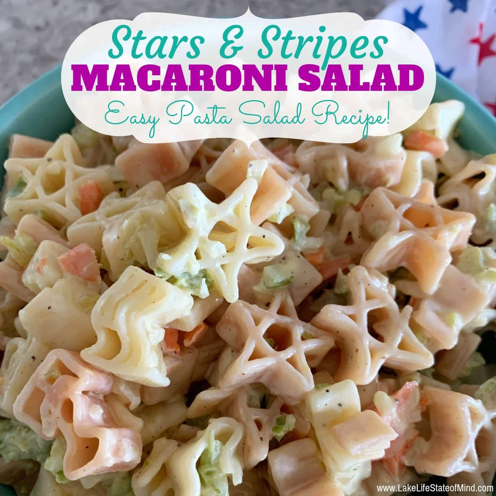 Patriotic Classic Macaroni Salad Recipe