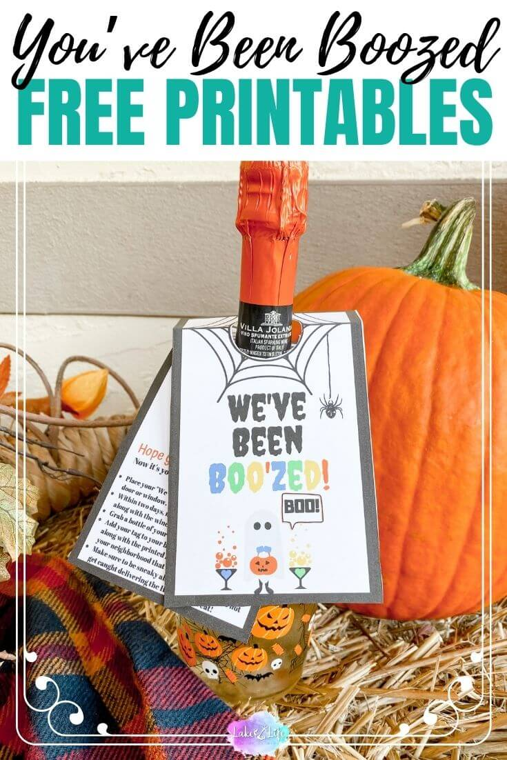 You've Been Boozed _ Free Halloween Wine Tag Printables