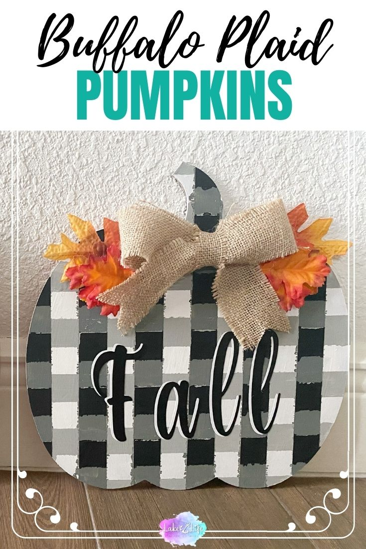 DIY Buffalo Check Pumpkins