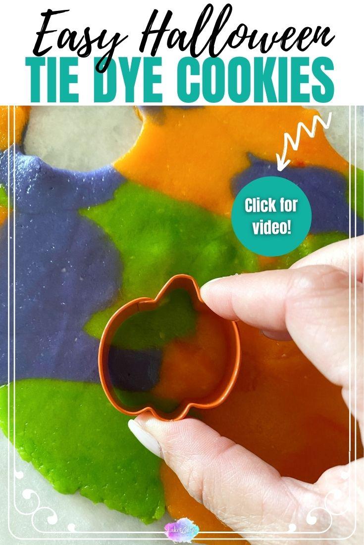 Halloween Tie Dye Cookies